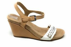 CL By Chinese Laundry Womens Think Wedge Sandal Brown White Size 9 M US