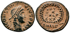 CONSTANTIUS II (347-348 AD) Ae4 Follis. Alexandria #PA 8809