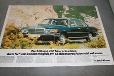 Mercedes 280 SEL.  Original-Werbeanzeige 1977. Reklame Werbung.