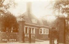 Park gates Cavenham Nr Mildenhall Bury St Edmunds unused RP pc