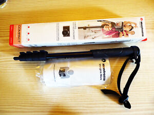 Manfrotto MMCOMPACT-BK, Portable Compact Camera Monopod  - black