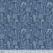 Blend Monsters & Robots by Stacy Peterson 125 103 03 1 Navy Metropolis  COTTON