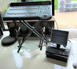 Mackie D8B Digital 8 Bus Mixing Desk, CPU, Monitor, keyboard and Mouse