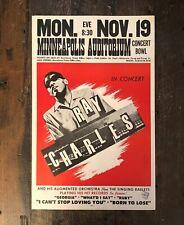 Ray Charles Minneapolis Auditorium Original 1962 Concert Poster