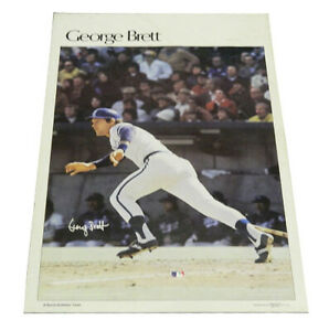 """1978 Sports Illustrated Poster George Brett Measures 24"""" X 36"""""""