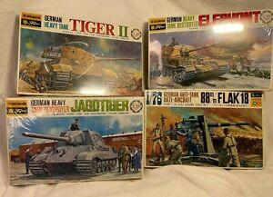 Lot of 4 FUJIMI 1:72 Model Plane/Tanks #'s 13, 19, 0769, FC-1150 FACTORY SEALED