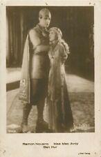 Ramon Novarro & Mae Mac Avoy Ben Hur postcard