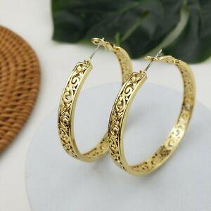 Hawaiian Gold Hoop earrings