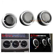 3x Black Air Conditioning Heat Control Switch AC Knob For Ford Focus MK2 MK3