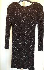 Jimmy Choo for H&M Kleid Strass Schwarz Dress Black XS New