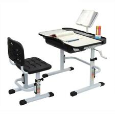 New Adjustable Children's Desk and Chair Set Kid's Study Table W/ Reading Stand