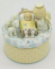 "Precious Moments Action Musical Box by Enesco 1994 ""JESUS LOVES ME"" Christmas"