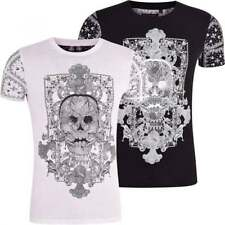 Skull Fitted Regular Size T-Shirts for Men