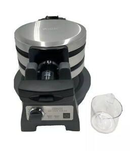 CRUX Artisan Series Double Rotating Waffle Maker In Grey