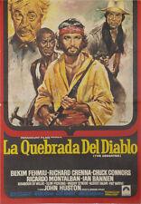 La quebrada del diablo -- Cartel de Cine Original --