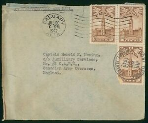 Mayfairstamps Canada 1942 Calgary to Auxillary Services Parliament Block Cover w
