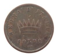 .NICE GRADE 1812 ITALY ITALIAN SOLDO M. NAPOLEON BUST.