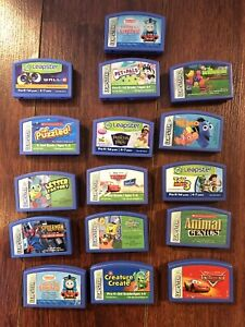 LeapFrog Leapster Learning Game System Cartridges, Lot of 16