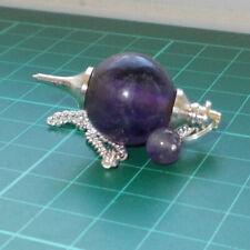 Auction Amethyst Ball Dowsing Pendulum Gemstone Crystal Healing