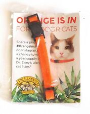 New listing Nwt Dr. Elsey's Orange for Indoor Cat Quick Release Adjustable Collar xmas gift