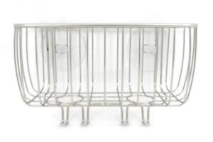 Suction Cup Metal Wire Bathroom Caddy Shower Rack Holder