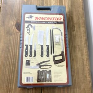 Winchester Deluxe Field Butchering Outdoor Hunting Portable Knife Set 8 PC Case