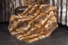 567 Rotfuchs Felldecke aus europäischem Rotfuchs Echt Fell Decke Pelz Tagesdecke