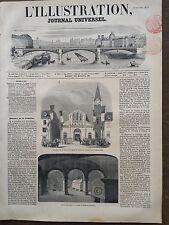 L'ILLUSTRATION 1851 N 454 INAUGURATION DE L 'EGLISE DE SAINT-LEU-TAVERNY