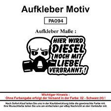 HIER WIRD DIESEL NOCH - Autoaufkleber Aufkleber Fun Spaß Sticker Lustige Sprüche
