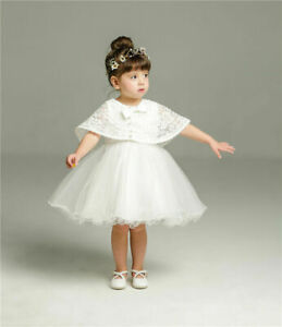 Baptism Dress Baby Christening Dress with Cape Elegant Bow Christening Gown Lace