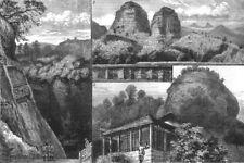 CHINA. Buddhist Monastery Tan Ha Shah, Red Cloud Mtn, Guangdong; Maritchi, 1883