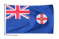 More details for new south wales australia flag 3'x2' (90cm x 60cm) with rope and toggle