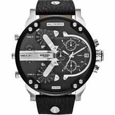 Mens Diesel DZ7313 Mr Daddy 2.0 Silver Black Chronograph Watch RRP £399