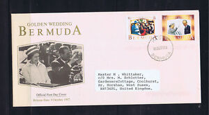 Bermuda 1997 Golden Wedding Anniversary - First Day Cover - Used - Addressed