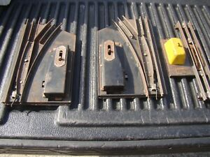 Pair of AMERICAN FLYER O GAUGE MANUAL SWITCHES  WORKING & Uncoupler