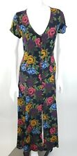 Vintage 90s Betsey Johnson Dress Small Lew Magram Floral Rose Print