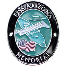 USS Arizona Memorial Walking Stick Medallion - US Navy Battleship, Pearl Harbor