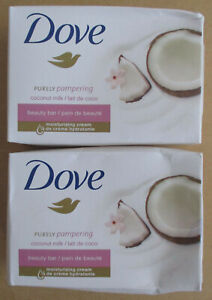 2 Dove Beauty Soap Bars Purely Pampering Coconut Milk with Jasmine Petals