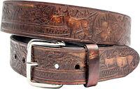 geprägter Gürtel Schnalle Buckle Belt Made in USA Jäger Förster Reh,Hirsch Wild