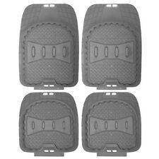 Car Floor Mats for All Weather Rubber 4pc Set Deep Dish Fit Heavy Duty Grey