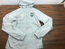 Adidas Seattle Sounders Soccer Rain Jacket Hooded Hoodie Jacket Men's Small