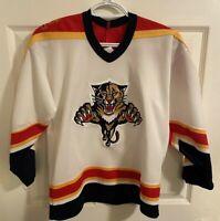 CCM Florida Panthers Hockey Jersey Youth L/XL White Vintage