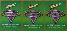 2007 AFL SELECT CHAMPIONS ADELAIDE CROWS CHECKLIST SET 3 CARDS