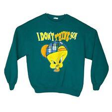 Vintage 1996 Looney Tunes Tweety Bird I Dont Think So Crewneck Sweatshirt