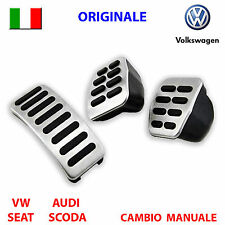 Pedaliera alluminio VW GOLF 4 IV POLO SKODA SEAT LEON IBIZA ORIGINALE pedali