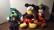 "Lot of 3 Disney Store Beanies Mini 8"" Bean Bag Mickey Mouse Halloween"