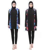 Muslim Womens Full Cover Swimwear Islamic Modest Swimsuit Burkini Swim Beachwear