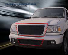 Black Billet Grille Front Grill Combo Fits 2006-2012 Ford Ranger