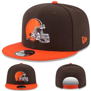 New Era Cleveland Browns Snapback Hat NFL Basic 2 Tone Color Adjustable Cap