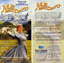 JULIE MADLY DEEPLY SALFORD LOWRY THEATRE FLYERS JULIE ANDREWS SARAH LOUISE YOUNG